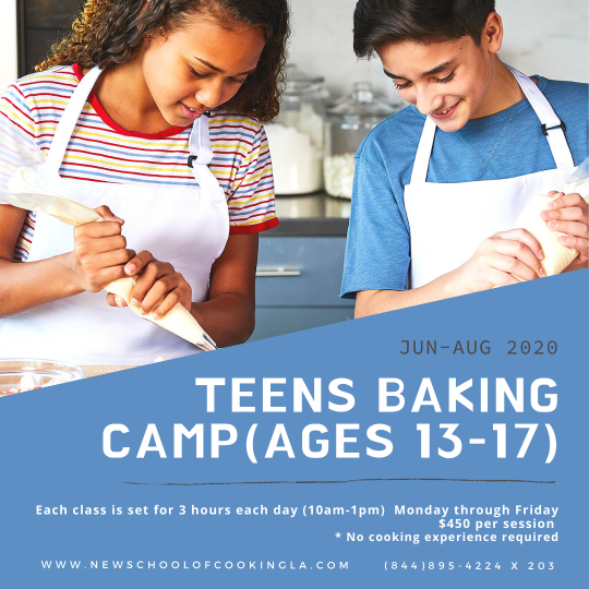 image for a Teens Baking Camp (Ages 13-17)