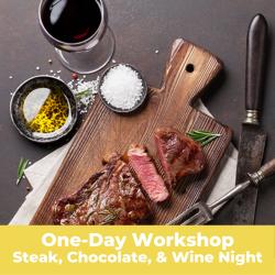 The image for Steak, Chocolate, and Wine Night - Workshop