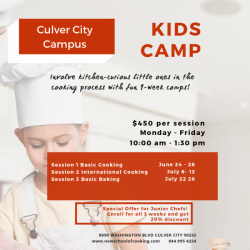 The image for Kid's Camp - International Cooking Day 1